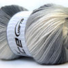 Lot of 4 x 100gr Skeins Ice Yarns BABY BATIK Yarn Black Grey White