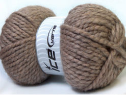 Lot of 2 x 150gr Skeins Ice Yarns SuperBulky ALPINE ALPACA (30% Alpaca 10% Wool) Yarn Light Camel