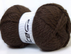 Lot of 2 x 150gr Skeins Ice Yarns SuperBulky ALPINE ALPACA (30% Alpaca 10% Wool) Yarn Brown