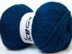 Lot of 2 x 150gr Skeins Ice Yarns SuperBulky ALPINE ALPACA (30% Alpaca 10% Wool) Yarn Blue