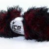 Lot of 3 x 100gr Skeins Ice Yarns SMOOTH FUR Hand Knitting Yarn Red Black