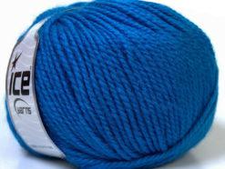 Lot of 4 x 100gr Skeins Ice Yarns ALPACA BULKY (25% Alpaca 35% Wool) Yarn Blue