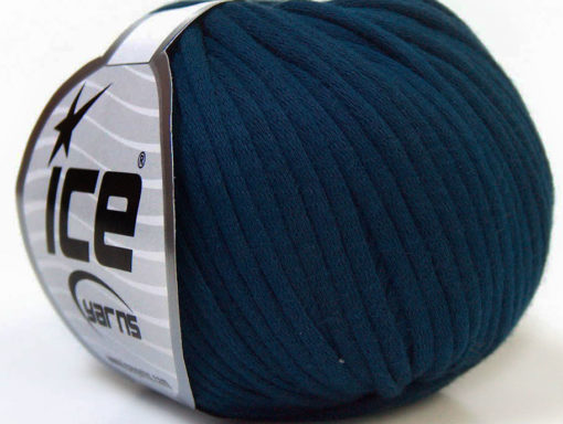 Lot of 8 Skeins Ice Yarns TUBE COTTON (70% Cotton) Hand Knitting Yarn Navy