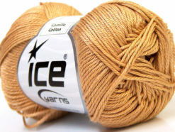 Lot of 6 Skeins Ice Yarns CAMILLA COTTON (100% Mercerized Cotton) Yarn Light Brown