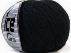 Lot of 8 Skeins Ice Yarns BABY SUMMER (60% Cotton) Hand Knitting Yarn Black