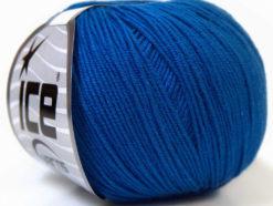 Lot of 8 Skeins Ice Yarns BABY SUMMER (60% Cotton) Hand Knitting Yarn Dark Blue