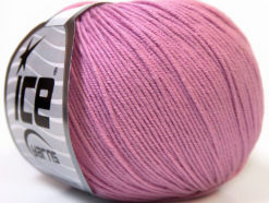 Lot of 8 Skeins Ice Yarns BABY SUMMER (60% Cotton) Yarn Light Orchid