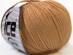 Lot of 8 Skeins Ice Yarns BABY SUMMER (60% Cotton) Yarn Light Brown