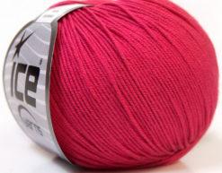 Lot of 8 Skeins Ice Yarns BABY SUMMER (60% Cotton) Hand Knitting Yarn Fuchsia