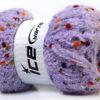 Lot of 4 x 100gr Skeins Ice Yarns PUFFY POMPOM (85% MicroFiber) Yarn Lilac