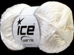 Lot of 4 x 100gr Skeins Ice Yarns TENA (50% Cotton) Hand Knitting Yarn White