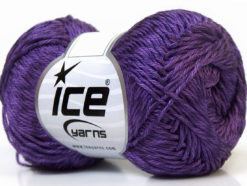 Lot of 4 x 100gr Skeins Ice Yarns TENA (50% Cotton) Hand Knitting Yarn Purple