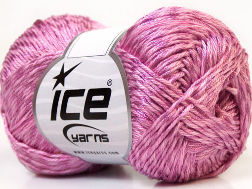 Lot of 4 x 100gr Skeins Ice Yarns TENA (50% Cotton) Hand Knitting Yarn Lilac