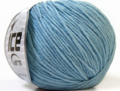 Lot of 8 Skeins Ice Yarns ALARA (50% Cotton) Hand Knitting Yarn Light Blue