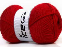 Lot of 4 x 100gr Skeins Ice Yarns SUPER BABY Hand Knitting Yarn Dark Red