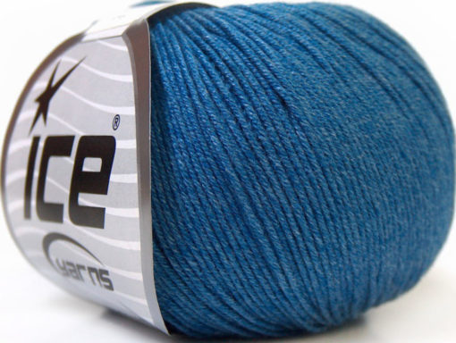 Lot of 8 Skeins Ice Yarns BABY SUMMER (60% Cotton) Yarn Jeans Blue