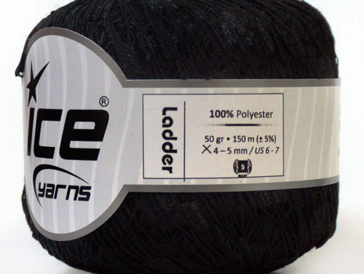 Lot of 6 Skeins Ice Yarns Trellis LADDER Hand Knitting Yarn Black