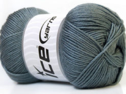 Lot of 4 x 100gr Skeins Ice Yarns BABY ANTIBACTERIAL (100% Antibacterial Dralon) Yarn Grey