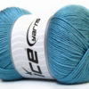 Lot of 4 x 100gr Skeins Ice Yarns BABY ANTIBACTERIAL (100% Antibacterial Dralon) Yarn Light Blue