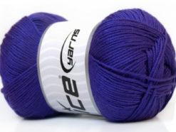 Lot of 4 x 100gr Skeins Ice Yarns BABY ANTIBACTERIAL (100% Antibacterial Dralon) Yarn Purple