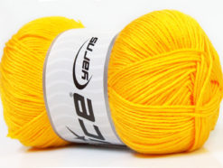 Lot of 4 x 100gr Skeins Ice Yarns BABY ANTIBACTERIAL (100% Antibacterial Dralon) Yarn Yellow