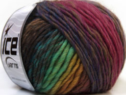 Lot of 8 Skeins Ice Yarns VIVID WOOL (60% Wool) Yarn Camel Green Shades Pink Purple