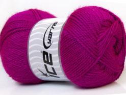 Lot of 4 x 100gr Skeins Ice Yarns DORA Hand Knitting Yarn Dark Fuchsia