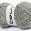 Lot of 4 x 100gr Skeins Ice Yarns MIRAGE (50% Wool) Yarn Light Grey