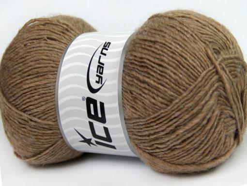 Lot of 4 x 100gr Skeins Ice Yarns MIRAGE (50% Wool) Hand Knitting Yarn Camel