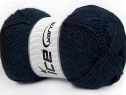 Lot of 4 x 100gr Skeins Ice Yarns MIRAGE (50% Wool) Yarn Navy Melange