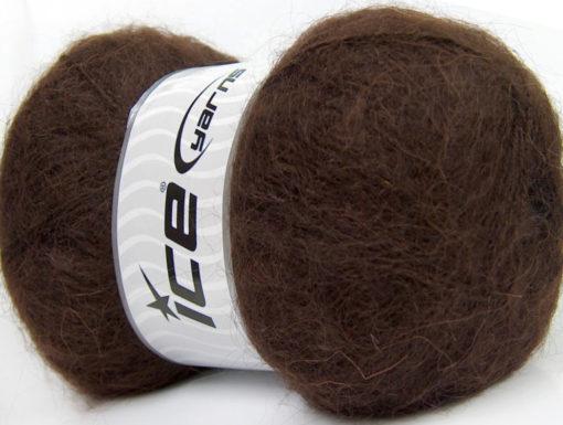 Lot of 4 x 100gr Skeins Ice Yarns BERMUDA MOHAIR (70% Mohair) Yarn Brown