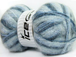 Lot of 4 x 100gr Skeins Ice Yarns BERMUDA MOHAIR (70% Mohair) Yarn Blue Shades