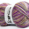 Lot of 4 x 100gr Skeins Ice Yarns ANGORA SUPREME COLOR (70% Angora) Yarn Lavender Grey White Camel