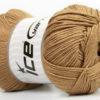 Lot of 4 x 100gr Skeins Ice Yarns BABY ANTIBACTERIAL (100% Antibacterial Dralon) Yarn Light Brown