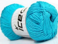 Lot of 4 x 100gr Skeins Ice Yarns BABY ANTIBACTERIAL (100% Antibacterial Dralon) Yarn Turquoise