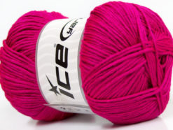 Lot of 4 x 100gr Skeins Ice Yarns BABY ANTIBACTERIAL (100% Antibacterial Dralon) Yarn Fuchsia