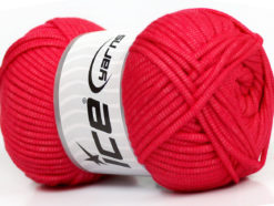 Lot of 4 x 100gr Skeins Ice Yarns TUBE VISCOSE (73% Viscose) Yarn Tomato Red