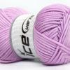 Lot of 4 x 100gr Skeins Ice Yarns TUBE VISCOSE (73% Viscose) Yarn Light Lilac