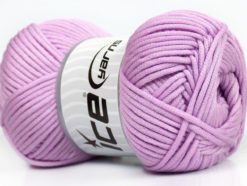 Lot of 4 x 100gr Skeins Ice Yarns TUBE VISCOSE (73% Viscose) Yarn Light Lilac