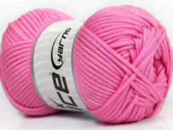 Lot of 4 x 100gr Skeins Ice Yarns TUBE VISCOSE (73% Viscose) Yarn Pink