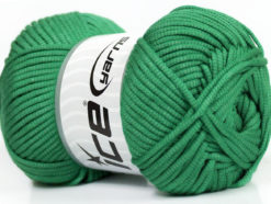 Lot of 4 x 100gr Skeins Ice Yarns TUBE VISCOSE (73% Viscose) Yarn Green