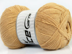 Lot of 4 x 100gr Skeins Ice Yarns LORENA SUPERFINE (55% Cotton) Yarn Milky Brown
