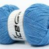 Lot of 4 x 100gr Skeins Ice Yarns LORENA SUPERFINE (55% Cotton) Yarn Light Blue