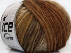 Lot of 8 Skeins Ice Yarns VIVID WOOL (60% Wool) Yarn Brown Shades Camel