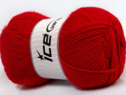 Lot of 4 x 100gr Skeins Ice Yarns MIRAGE (50% Wool) Hand Knitting Yarn Red