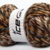 Lot of 4 x 100gr Skeins Ice Yarns MYSTIQUE (25% Wool) Yarn Brown Shades