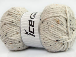 Lot of 4 x 100gr Skeins Ice Yarns WOOL TWEED SUPERBULKY (25% Wool 3% Viscose) Yarn Beige