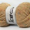 Lot of 4 x 100gr Skeins Ice Yarns WOOL TWEED SUPERBULKY (25% Wool 3% Viscose) Yarn Latte