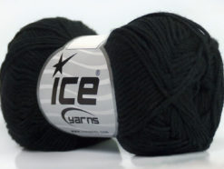 Lot of 8 Skeins Ice Yarns COTTON BAMBOO (50% Bamboo 50% Cotton) Yarn Black