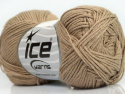 Lot of 8 Skeins Ice Yarns COTTON BAMBOO (50% Bamboo 50% Cotton) Yarn Camel